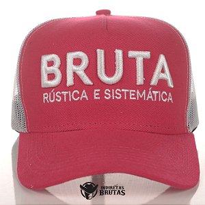 Boné Bruta Rústica e Sistemática Rosa e Cinza