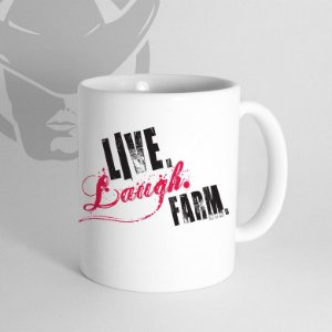 Caneca Live. Laugh. Farm.