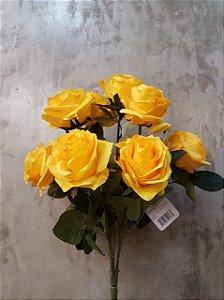 Buquê de rosas Amarelo com 10 cabeças