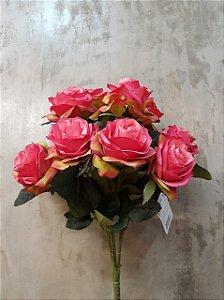 Buquê de rosas (rosa) com 10 cabeças