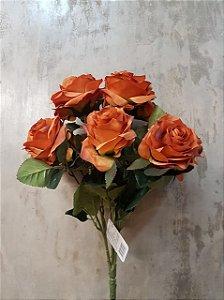 Buquê de rosas (marrom) com 10 cabeças