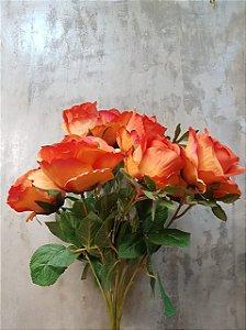 Buquê de rosas (laranja) com 10 cabeças