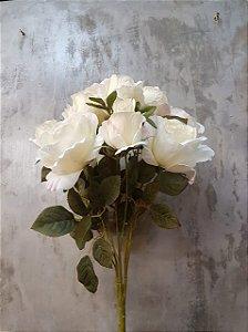 Buquê de rosas (branco) com 10 cabeças
