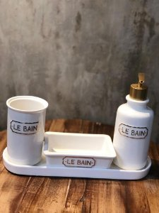 KIT BANHEIRO 42144 3PCS CERAM LE BAIN BCO/DOUR