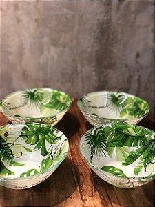 cj bowls 35423 vidro  sodo cal leaves vd 14cm