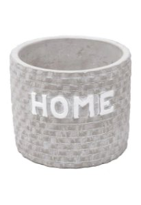 CACHEPOT  CONCRETO HOME BRICKS CINZA 10,7X10,3X9 44184