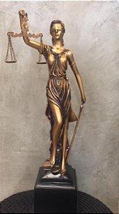 ESTATUETA DAMA DA JUSTIÇA RESINA PLASTICA 56X14CM HJC-201