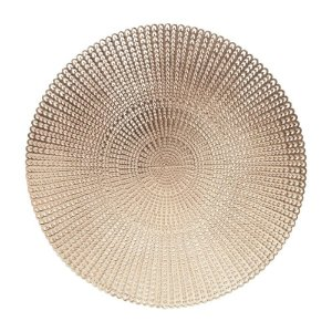 LUGAR AMERICANO De PVC LUXO  ROSE GOLD 40CM 27457