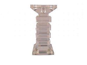 Castiçal de Cristal 19x9cm