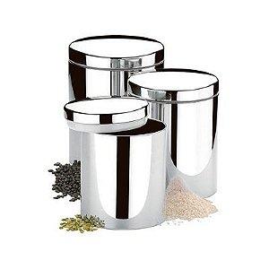 Conjunto de Potes para Mantimentos 3 Peças - Brinox