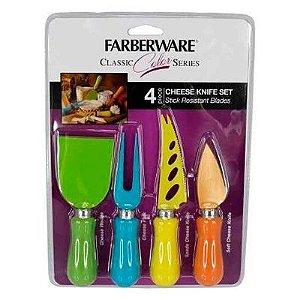 Jogo de Facas Coloridas para Frios - Farberware