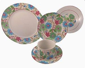 Jogo de Jantar em Porcelana 20 peças