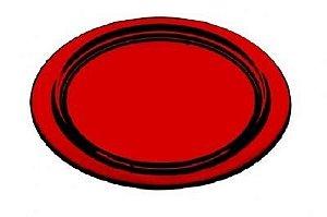Porta Copos redondo 6 Peças Vermelho- KOS