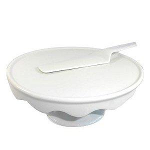 Prato de Bolo com Espátula 30cm- Casambiente