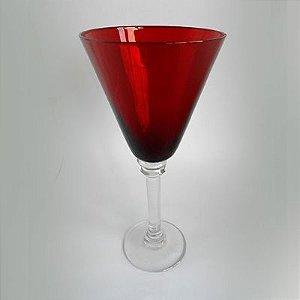 Taça Água 330ml Vidro Vermelho Frizz 6 Peças