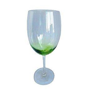 Taça Água 570ml Vidro Verde Stain 6 Peças