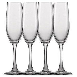 Taça Champagne 180ml Cristalin Transparente 4 Peças - Winelovers