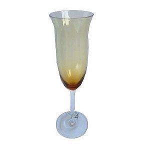 Taça Champagne 200ml Vidro Ambar 6 Peças