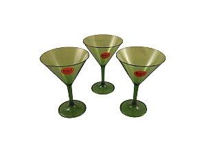 Taça de Martini Acrílico Verde 6 peças - KOS