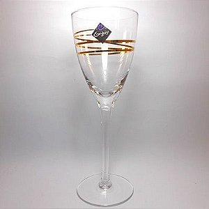 Taça Vinho 255ML Vidro Transparente 6 PÇS Glam - Enjoy