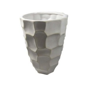 Vaso 23x16CM de Cerâmica Branca- Gs Ashley