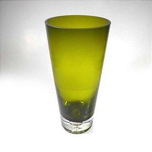 Vaso 25CM de Vidro Verde- Gs Ypsilon