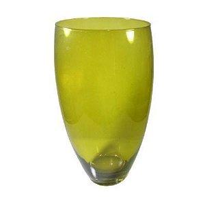 Vaso 35CM de Vidro Verde- Rona Salinas