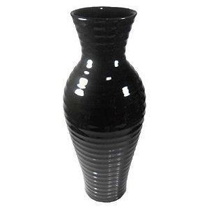 Vaso Cerâmica Preto 40X16cm