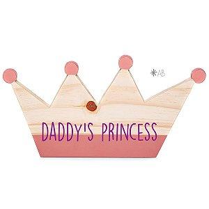 Plaquinha Coroa para decorar quartos infantis e portas de maternidade