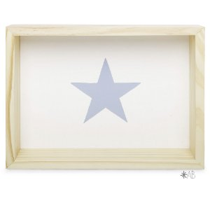 Nicho Retangular com Estrela pintada para decoração de quarto infantil