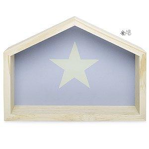Nicho Casinha tamanho G com Estrela pintada para decoração de quarto infantil