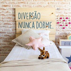 Cabeceira personalizada de madeira para cama box