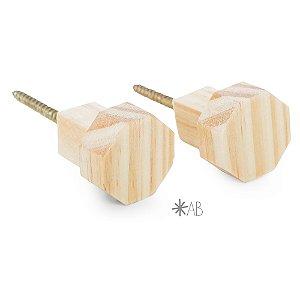 Gancho Octogonal de madeira para parede (O PAR)