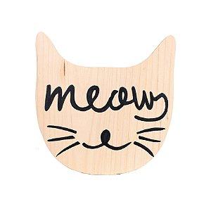 Plaquinha Gatinho Meow (Mama Loves You + Ateliê Baobá)
