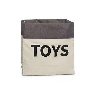 Sacão TOYS PEQUENO na cor cinza para armazenar brinquedos e decorar quartos infantis