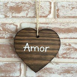 Plaquinha hang em formato de coração 15cm x 15cm para casamentos e festas