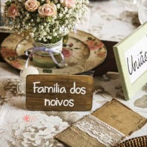 Plaquinha de mesa mini 'porta-retrato' para casamentos e festas