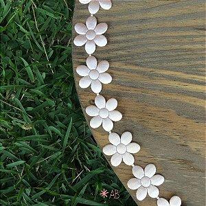 Faixa de flores de cetim para placas de madeira para festas