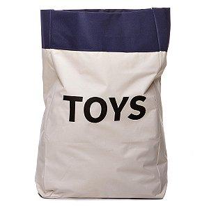 Sacão TOYS GRANDE na cor azul marinho para armazenar brinquedos e decorar quartos infantis