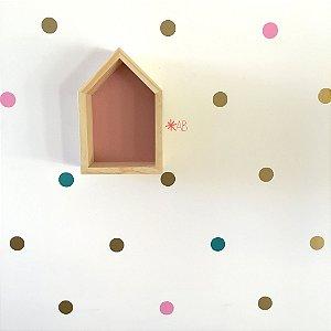 Adesivo de Parede Bolinhas para decoração de quartos infantis