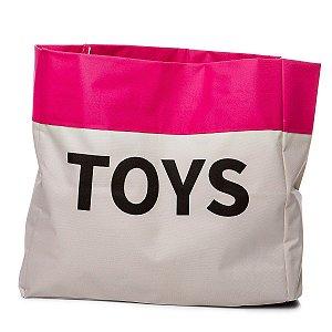 Sacão TOYS PEQUENO na cor pink para armazenar brinquedos e decorar quartos infantis