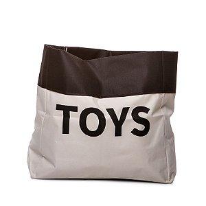 Sacão TOYS PEQUENO na cor preta para armazenar brinquedos e decorar quartos infantis