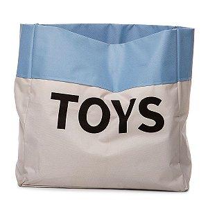 Sacão TOYS PEQUENO na cor azul claro para armazenar brinquedos e decorar quartos infantis