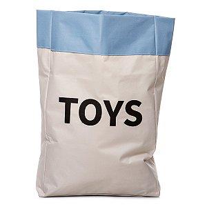 Sacão TOYS GRANDE na cor azul claro para armazenar brinquedos e decorar quartos infantis