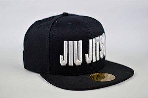 Boné SnapBack Aba reta Jiu Jitsu