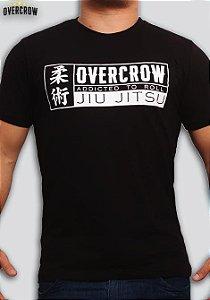 "Camiseta de Jiu Jitsu ""Addicted to Roll"" Preta"