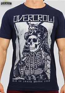 Camiseta de Jiu Jitsu Caveira Samurai Azul