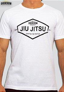 """Camiseta de Jiu Jitsu """"Crafted for Battle"""" - """"Criado para a Batalha"""" Branca"""