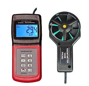 Termo Anemômetro Digital Velocidade e Fluxo do Ar AM-4836V