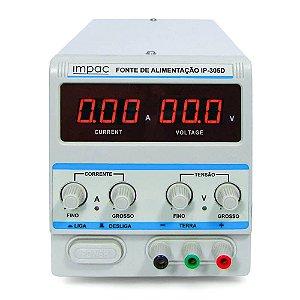 Fonte de Alimentação Digital Ajustável IP-305D Impac